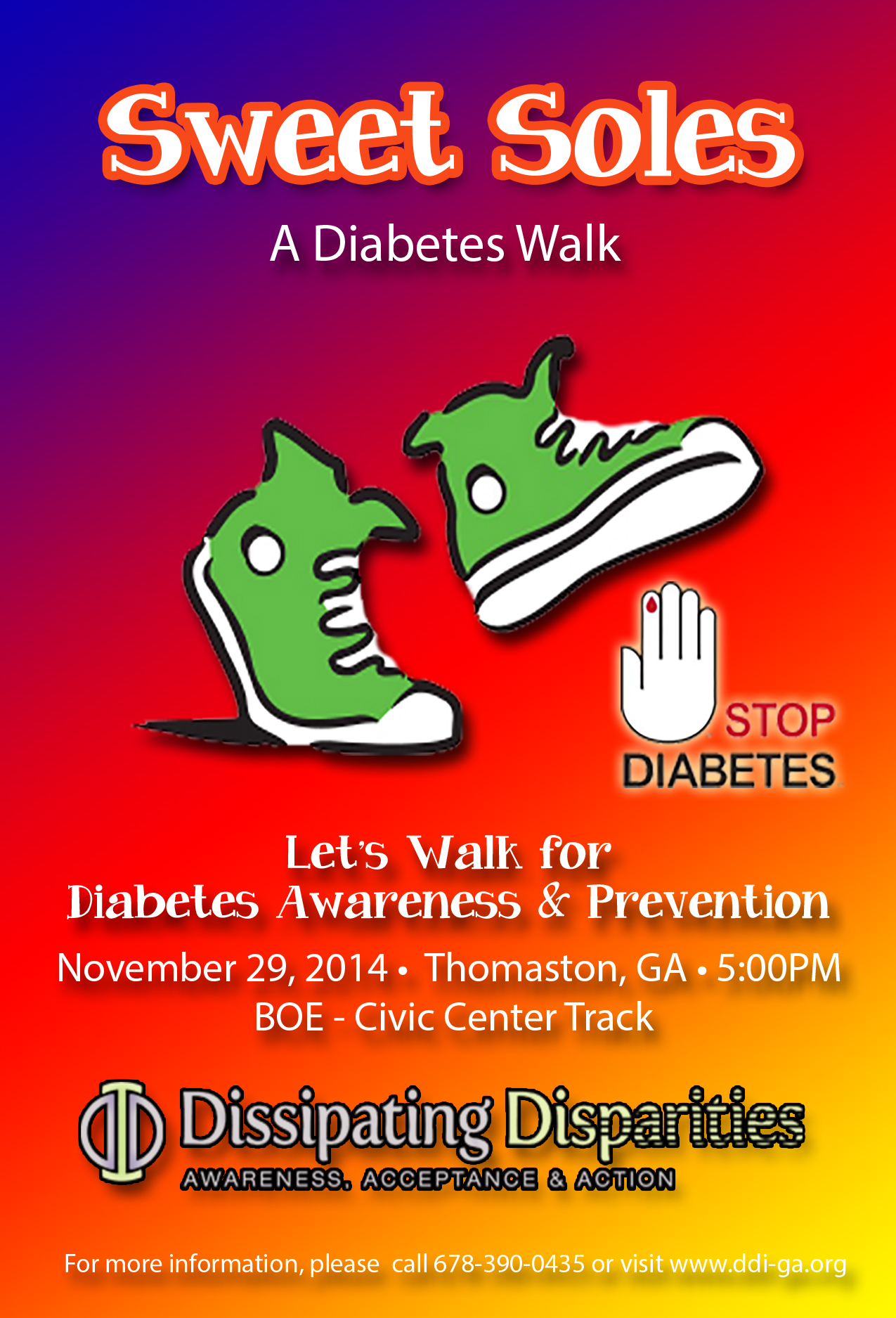 Sweet Soles - Diabetes Walk 2014